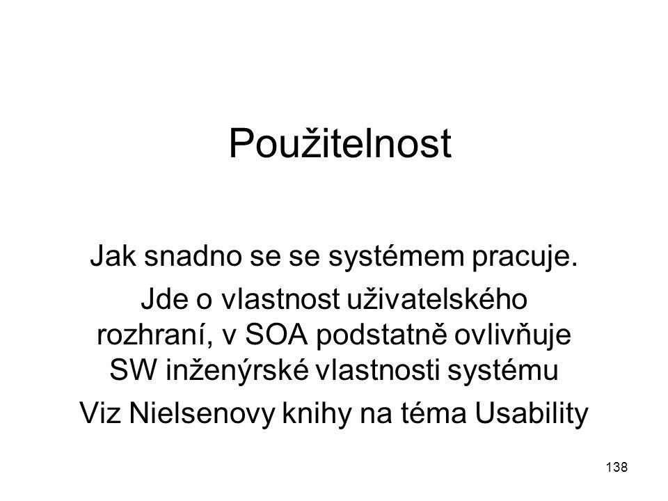 Použitelnost Jak snadno se se systémem pracuje.
