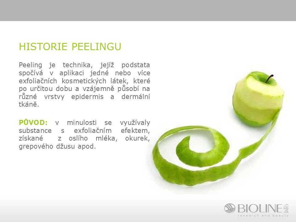 HISTORIE PEELINGU