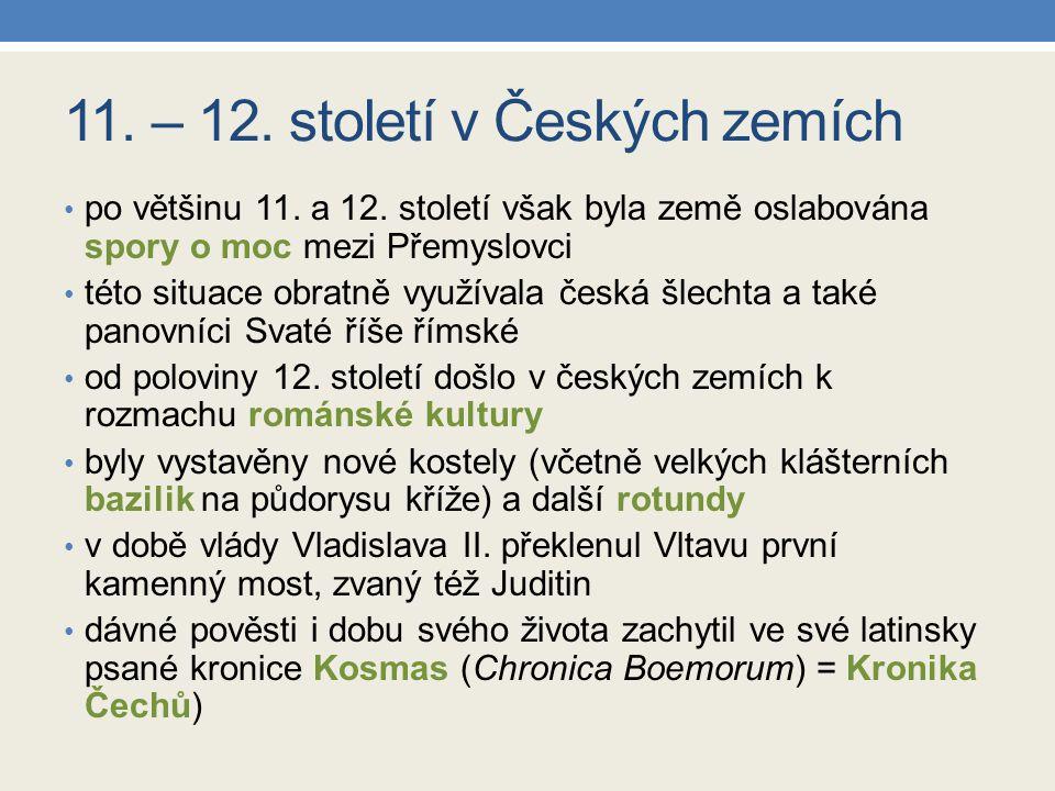 11. – 12. století v Českých zemích