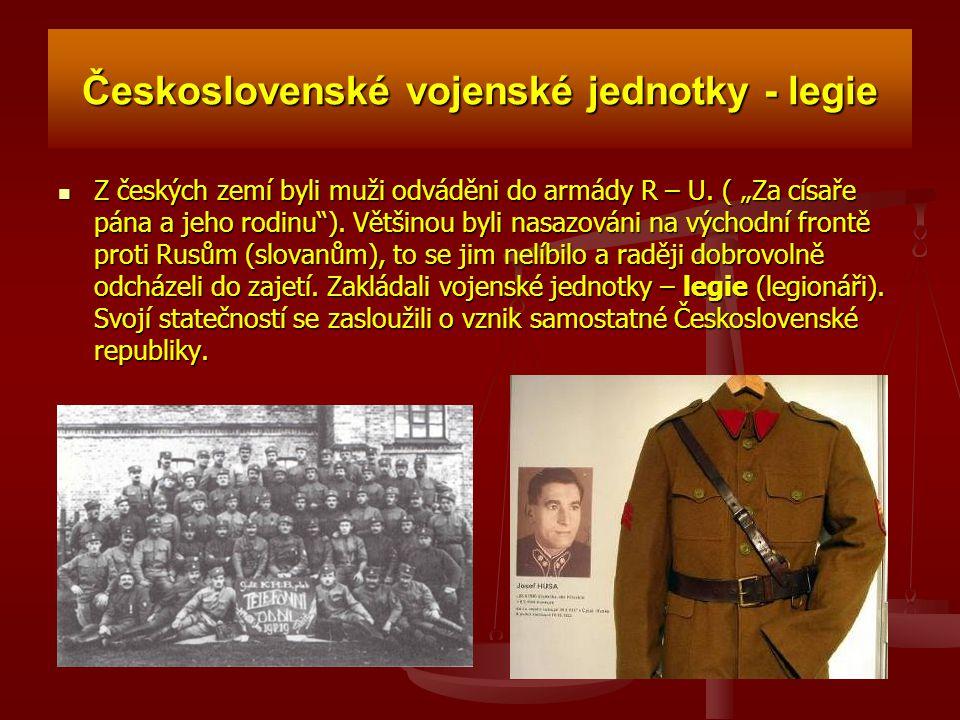 Československé vojenské jednotky - legie