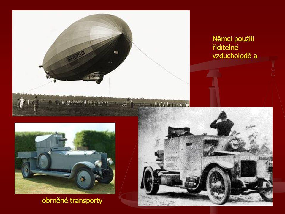Němci použili řiditelné vzducholodě a