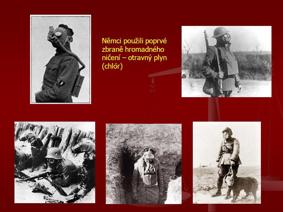 Němci použili poprvé zbraně hromadného ničení – otravný plyn (chlór)