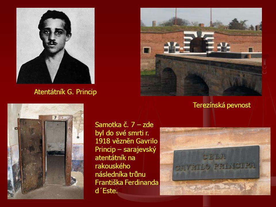 Atentátník G. Princip Terezínská pevnost.