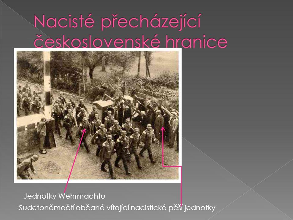 Nacisté přecházející československé hranice