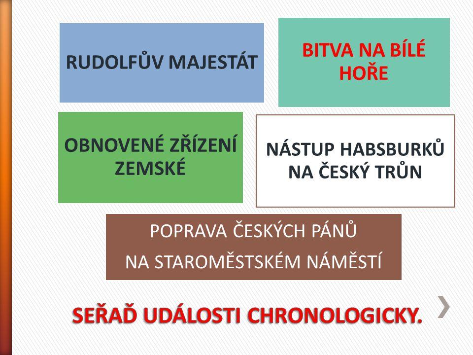 SEŘAĎ UDÁLOSTI CHRONOLOGICKY.