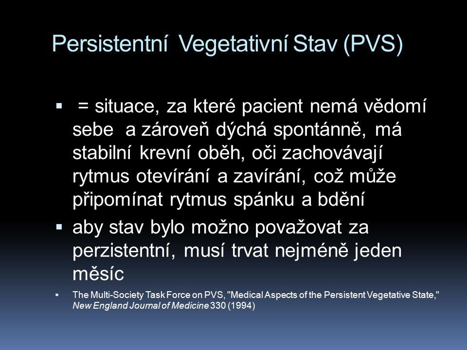 Persistentní Vegetativní Stav (PVS)