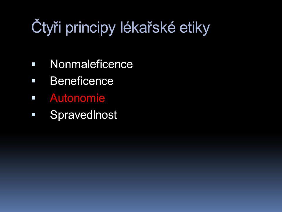 Čtyři principy lékařské etiky
