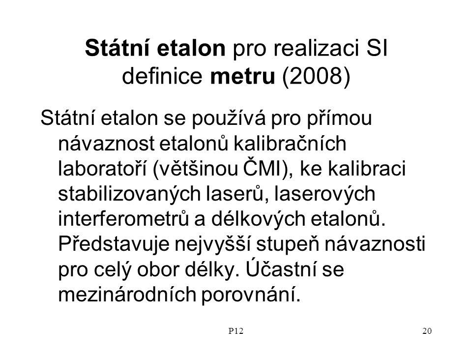 Státní etalon pro realizaci SI definice metru (2008)