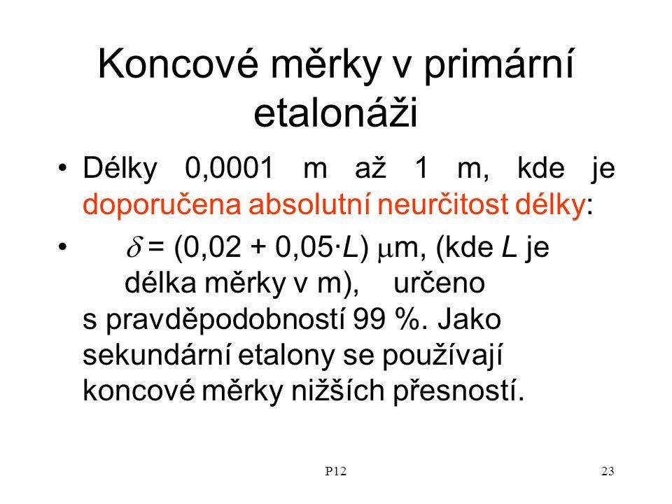 Koncové měrky v primární etalonáži