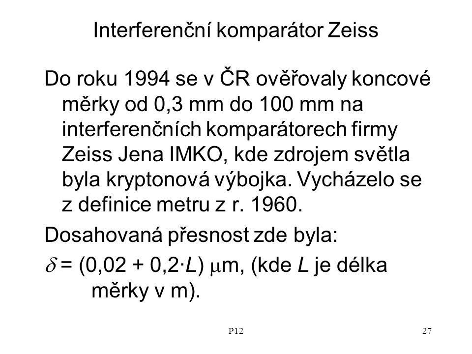 Interferenční komparátor Zeiss