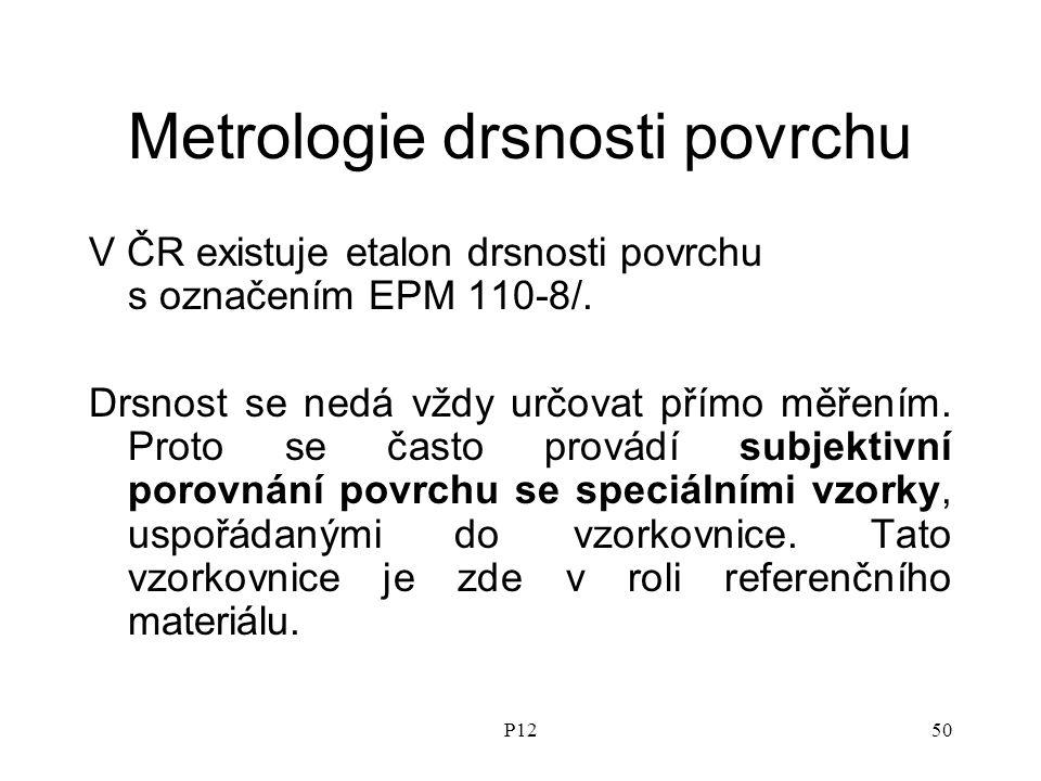 Metrologie drsnosti povrchu