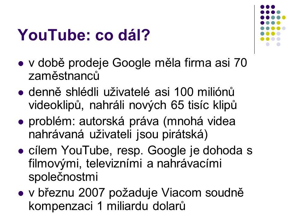 YouTube: co dál v době prodeje Google měla firma asi 70 zaměstnanců