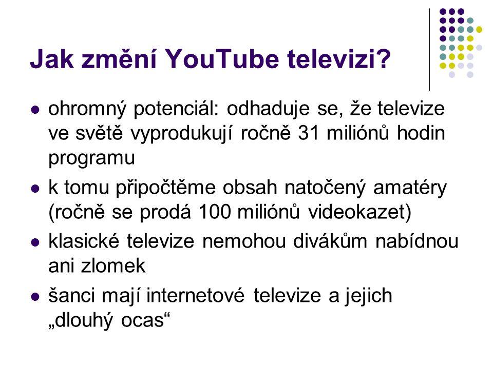 Jak změní YouTube televizi
