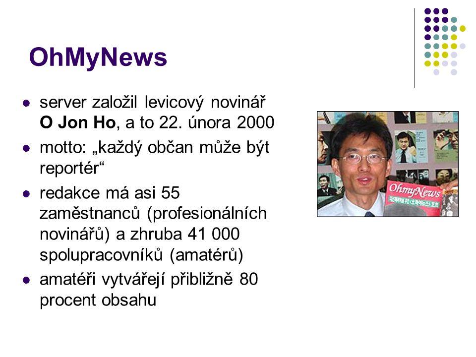 OhMyNews server založil levicový novinář O Jon Ho, a to 22. února 2000