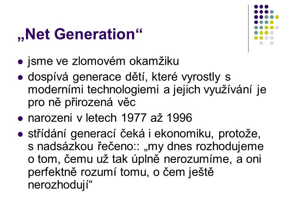 """""""Net Generation jsme ve zlomovém okamžiku"""