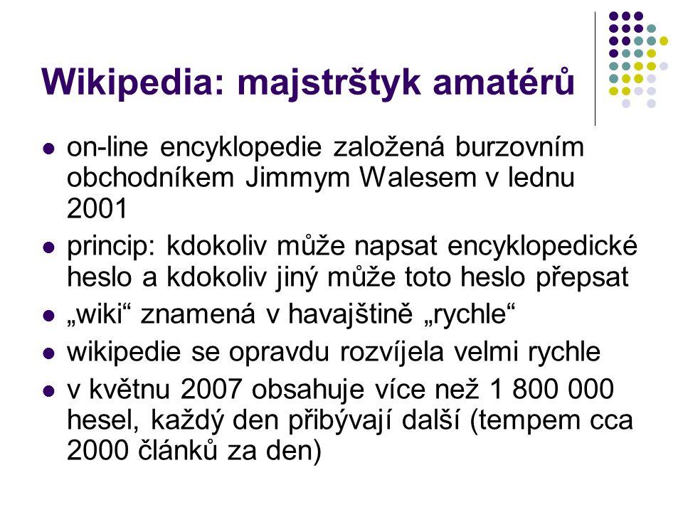 Wikipedia: majstrštyk amatérů