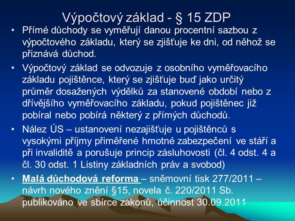 Výpočtový základ - § 15 ZDP