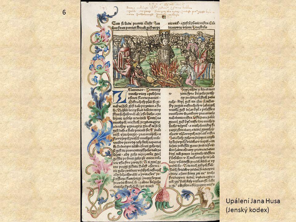 6 Upálení Jana Husa (Jenský kodex)