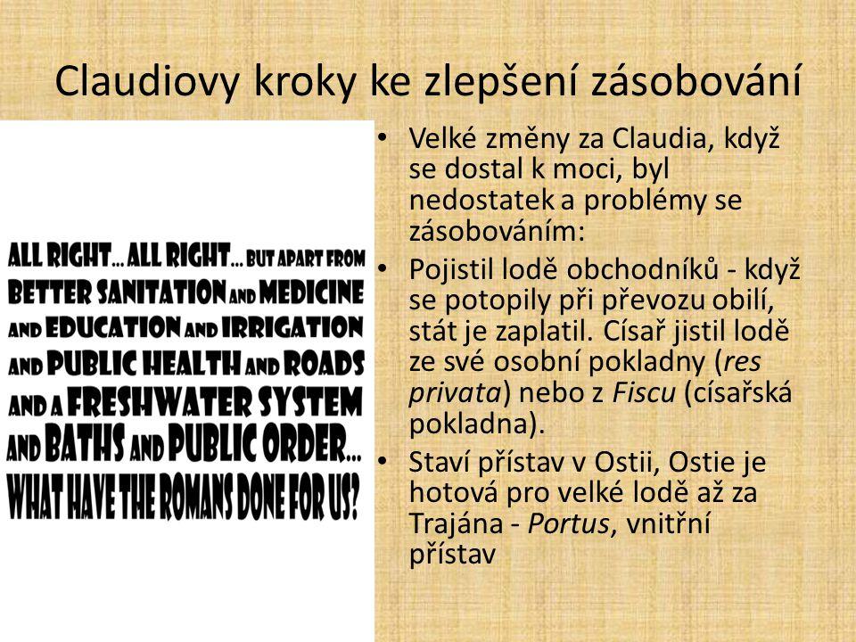 Claudiovy kroky ke zlepšení zásobování