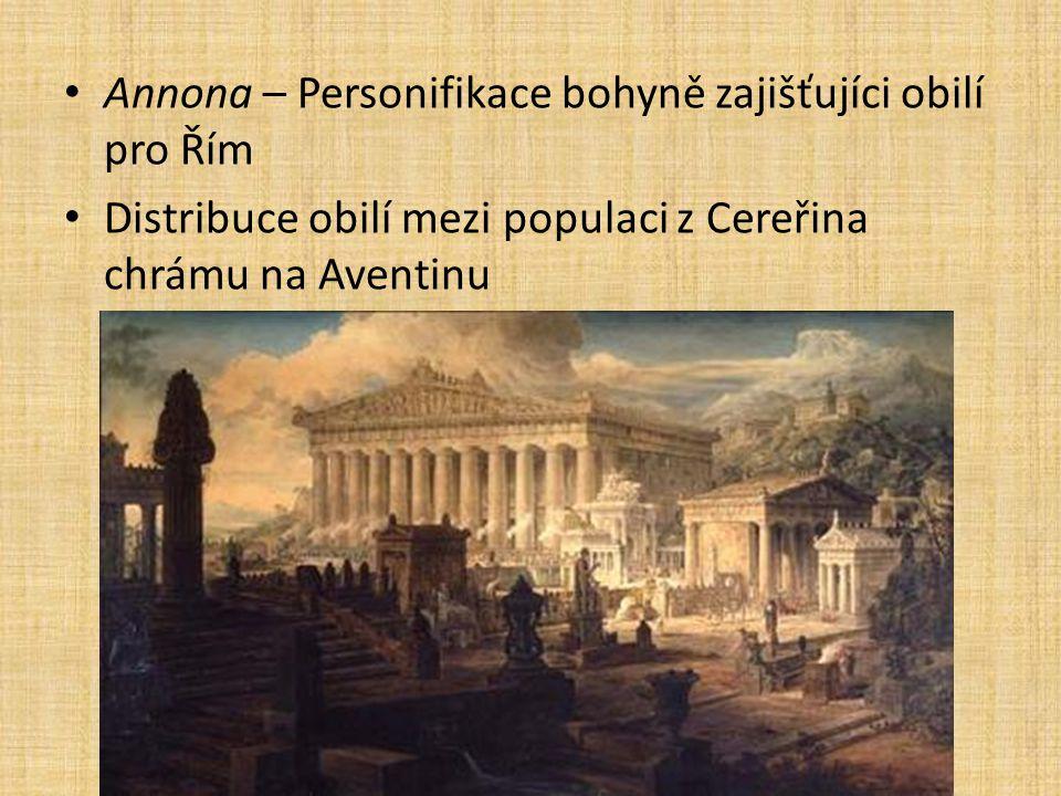 Annona – Personifikace bohyně zajišťujíci obilí pro Řím