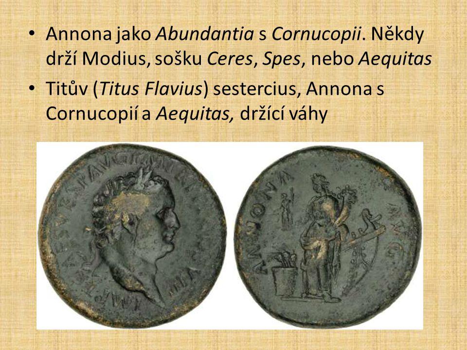 Annona jako Abundantia s Cornucopii