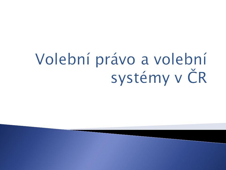 Volební právo a volební systémy v ČR