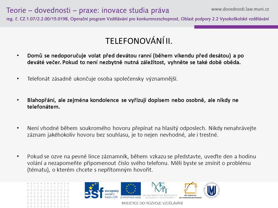 TELEFONOVÁNÍ II.