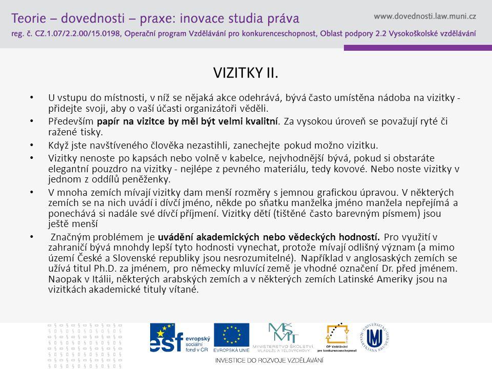 VIZITKY II.