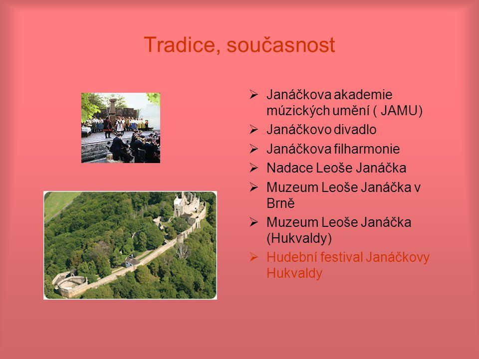 Tradice, současnost Janáčkova akademie múzických umění ( JAMU)