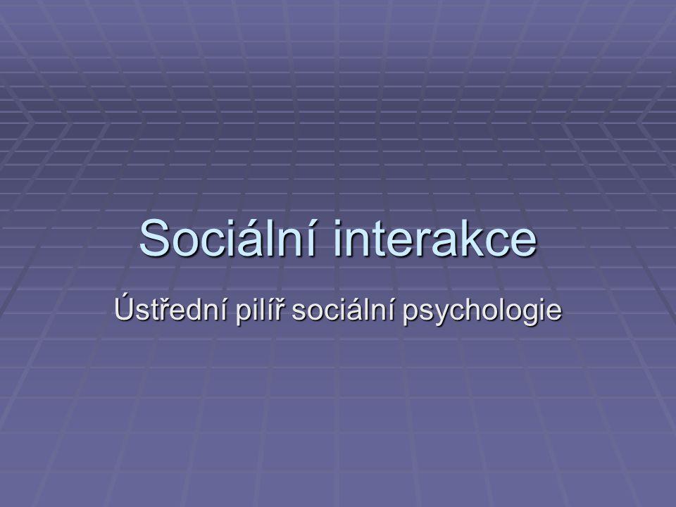 Ústřední pilíř sociální psychologie