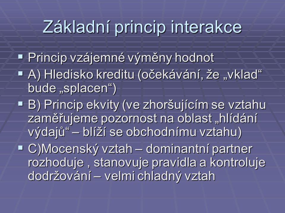 Základní princip interakce