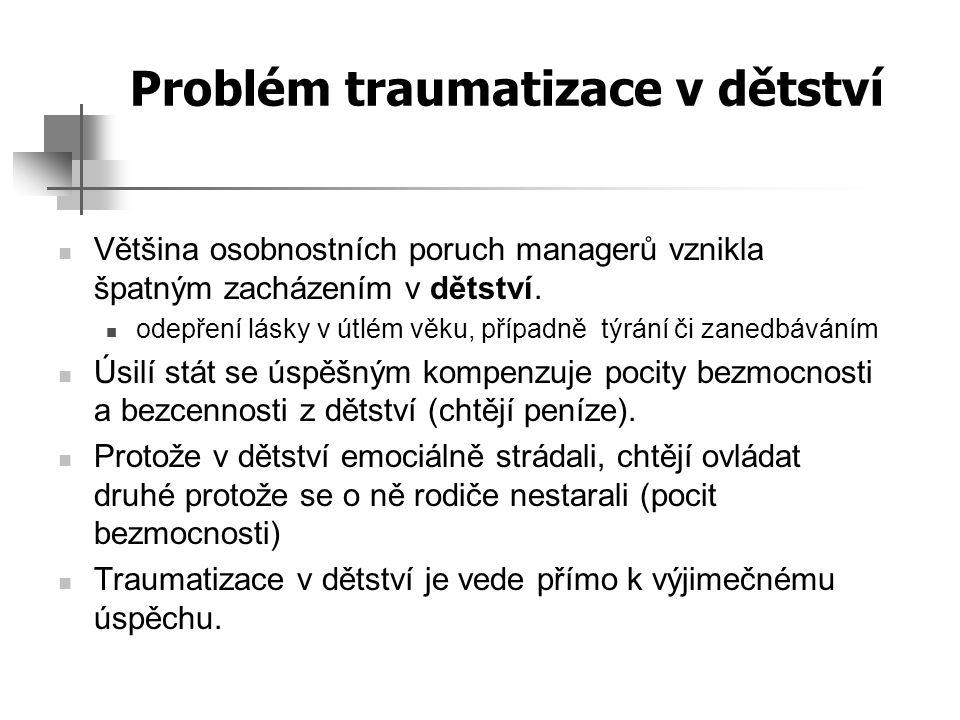 Problém traumatizace v dětství
