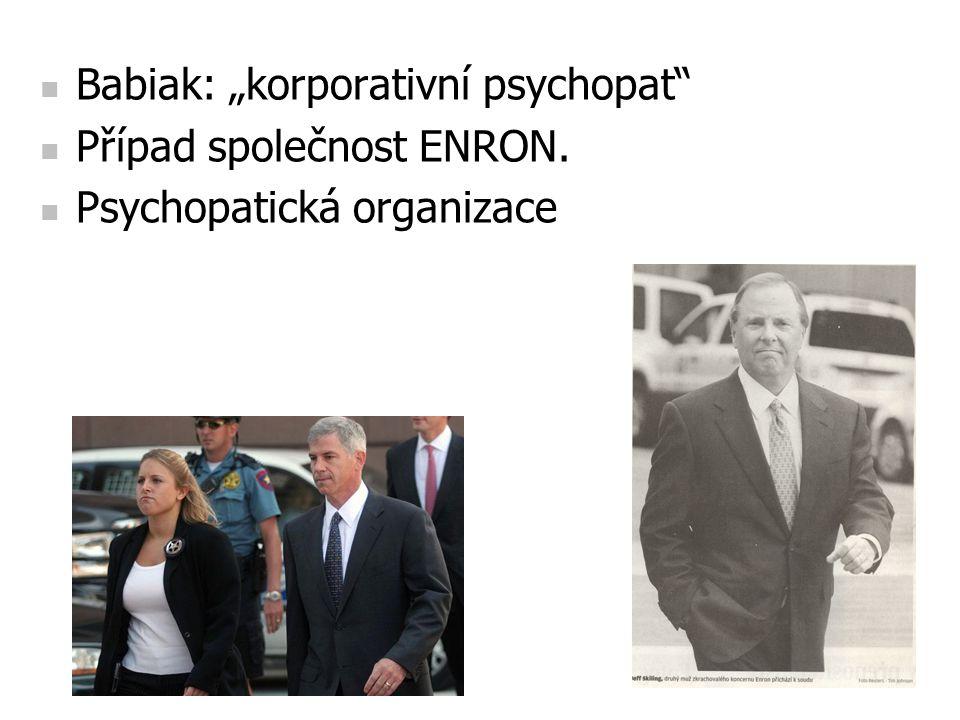 """Babiak: """"korporativní psychopat"""