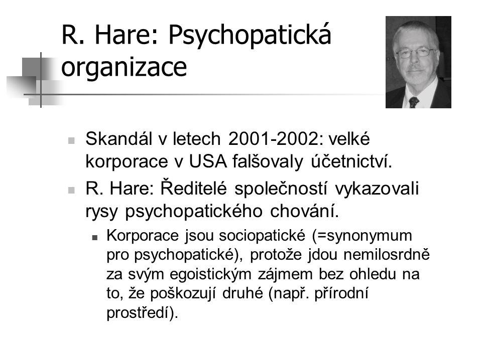R. Hare: Psychopatická organizace