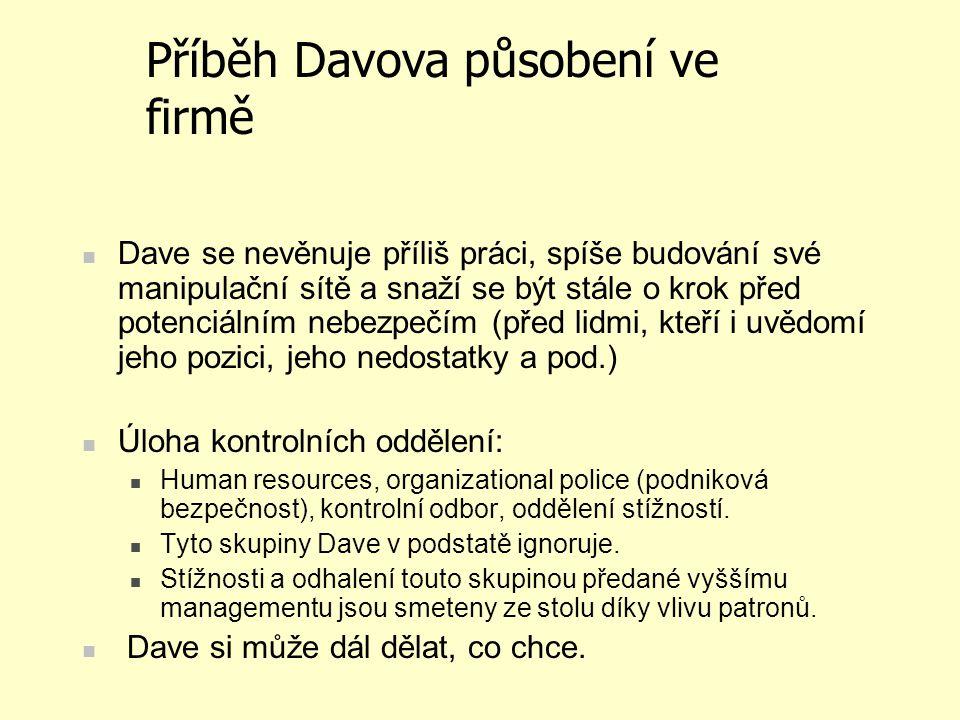Příběh Davova působení ve firmě