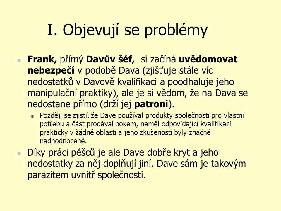 I. Objevují se problémy