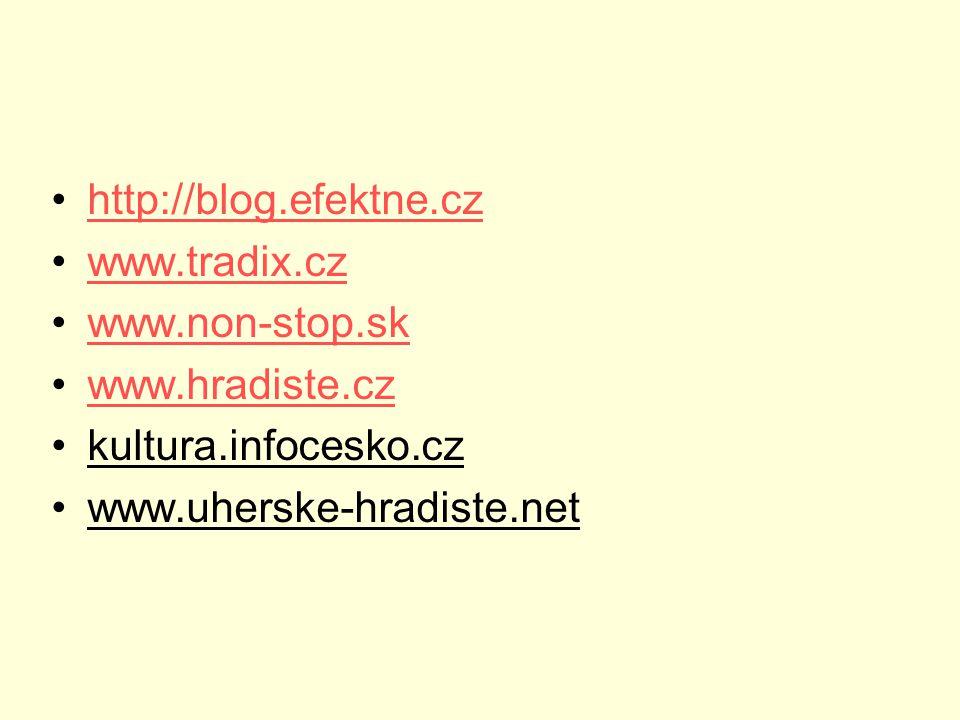 http://blog.efektne.cz www.tradix.cz. www.non-stop.sk.