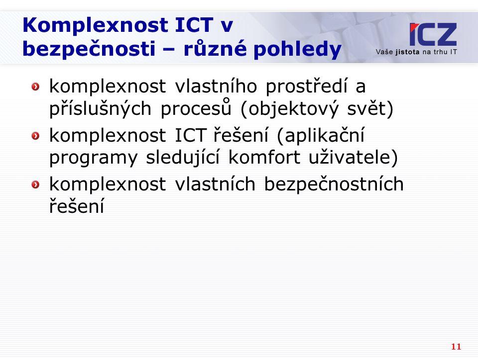Komplexnost ICT v bezpečnosti – různé pohledy