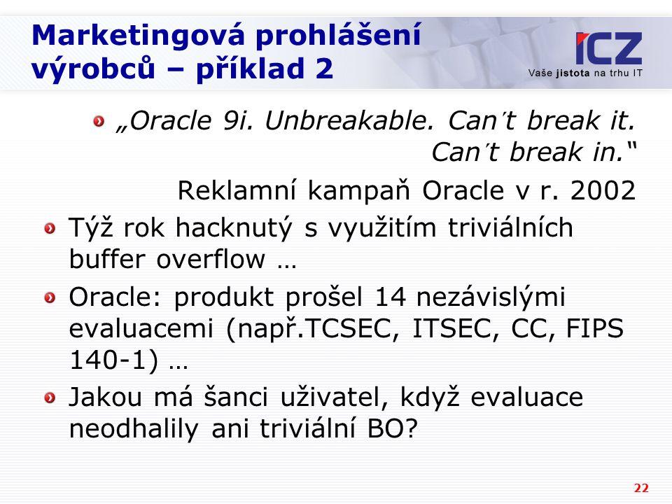 Marketingová prohlášení výrobců – příklad 2