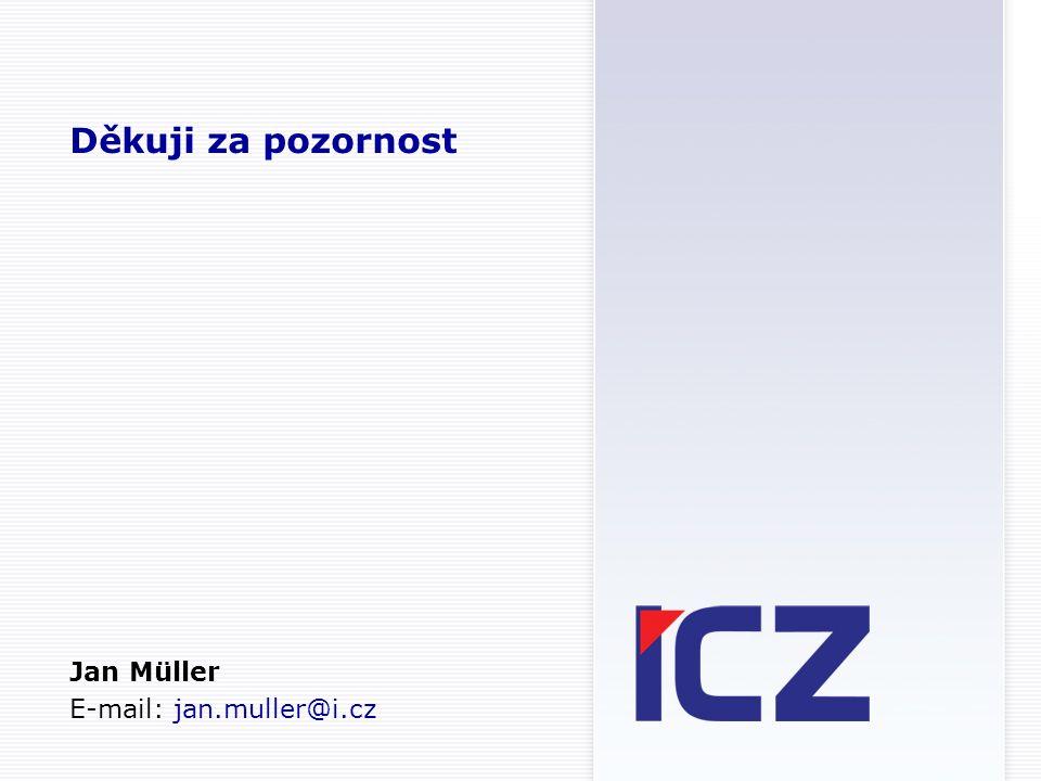 Děkuji za pozornost Jan Müller E-mail: jan.muller@i.cz