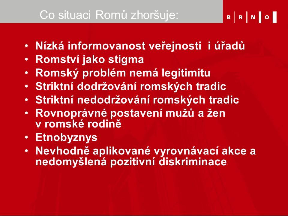Co situaci Romů zhoršuje: