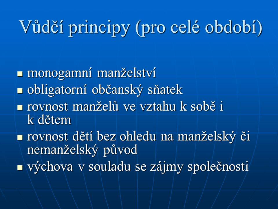 Vůdčí principy (pro celé období)