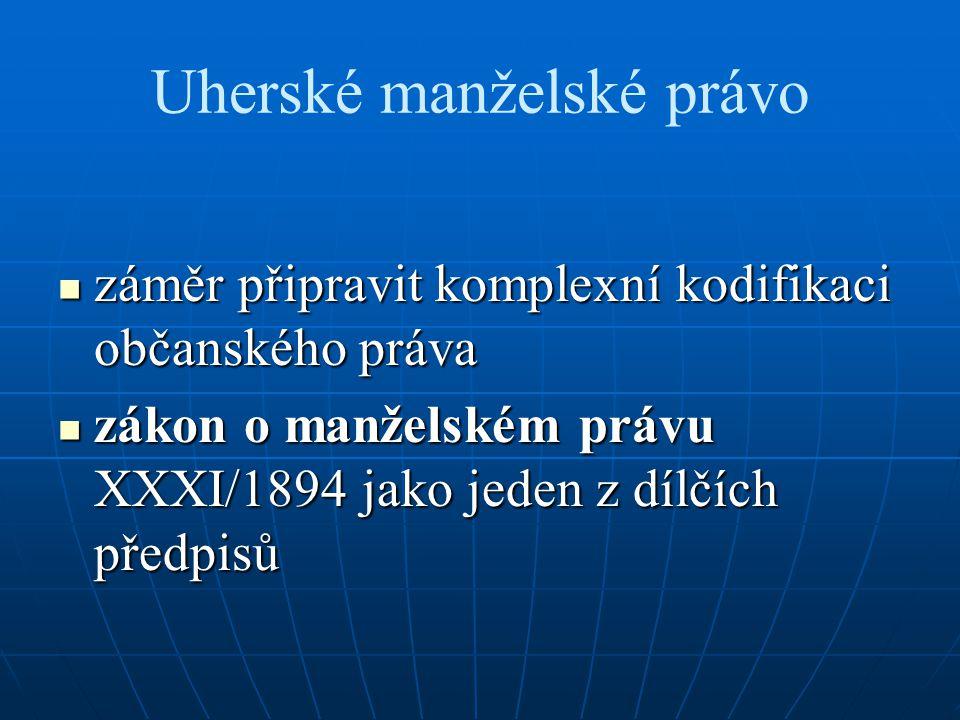 Uherské manželské právo