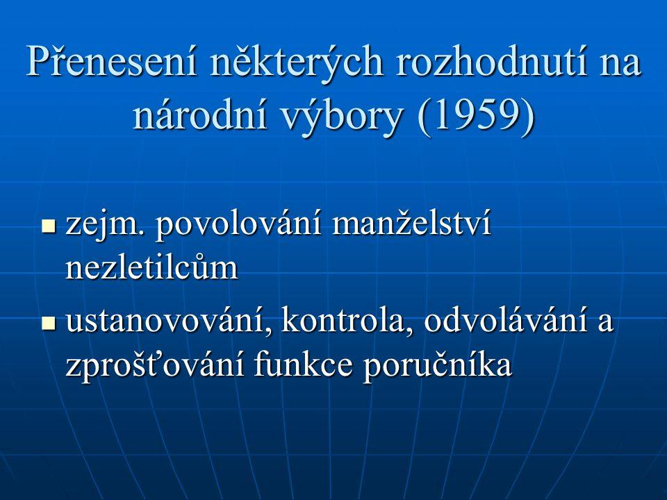 Přenesení některých rozhodnutí na národní výbory (1959)