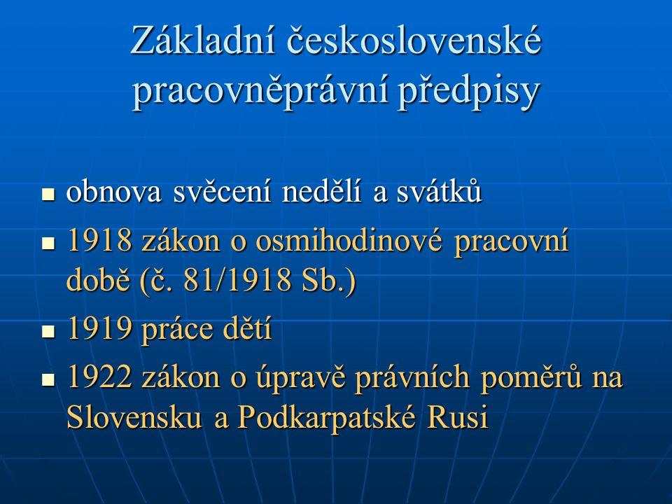 Základní československé pracovněprávní předpisy