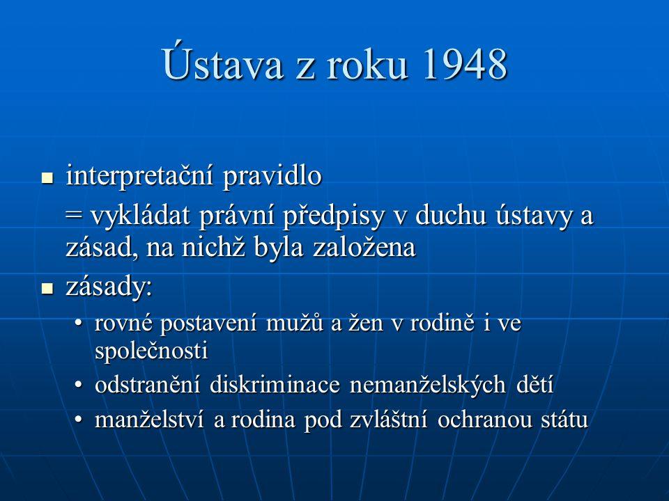 Ústava z roku 1948 interpretační pravidlo