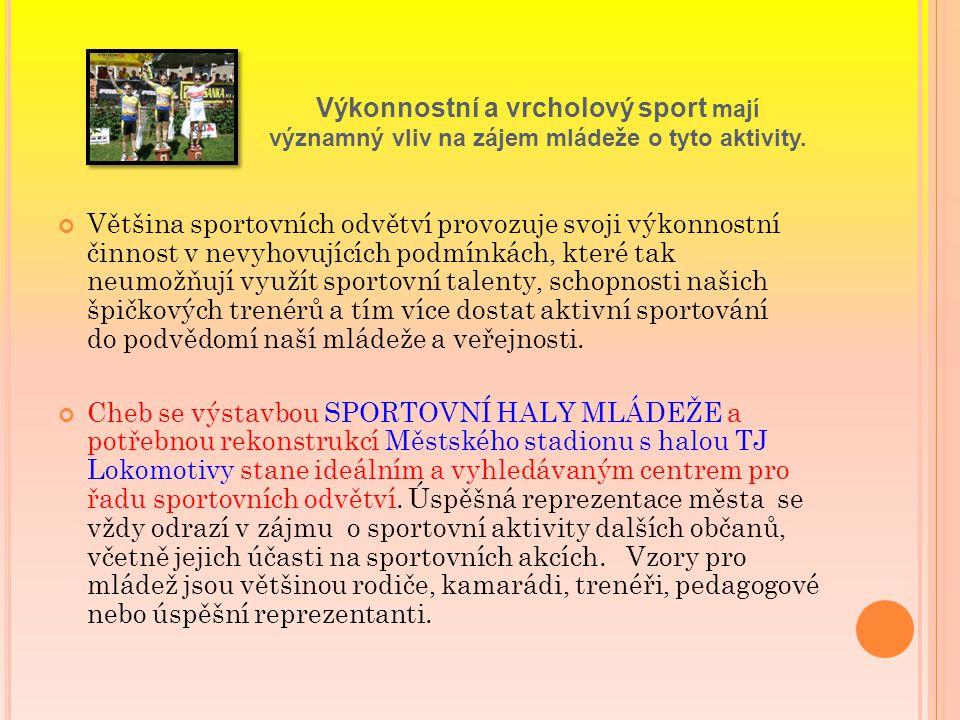 Výkonnostní a vrcholový sport mají významný vliv na zájem mládeže o tyto aktivity.