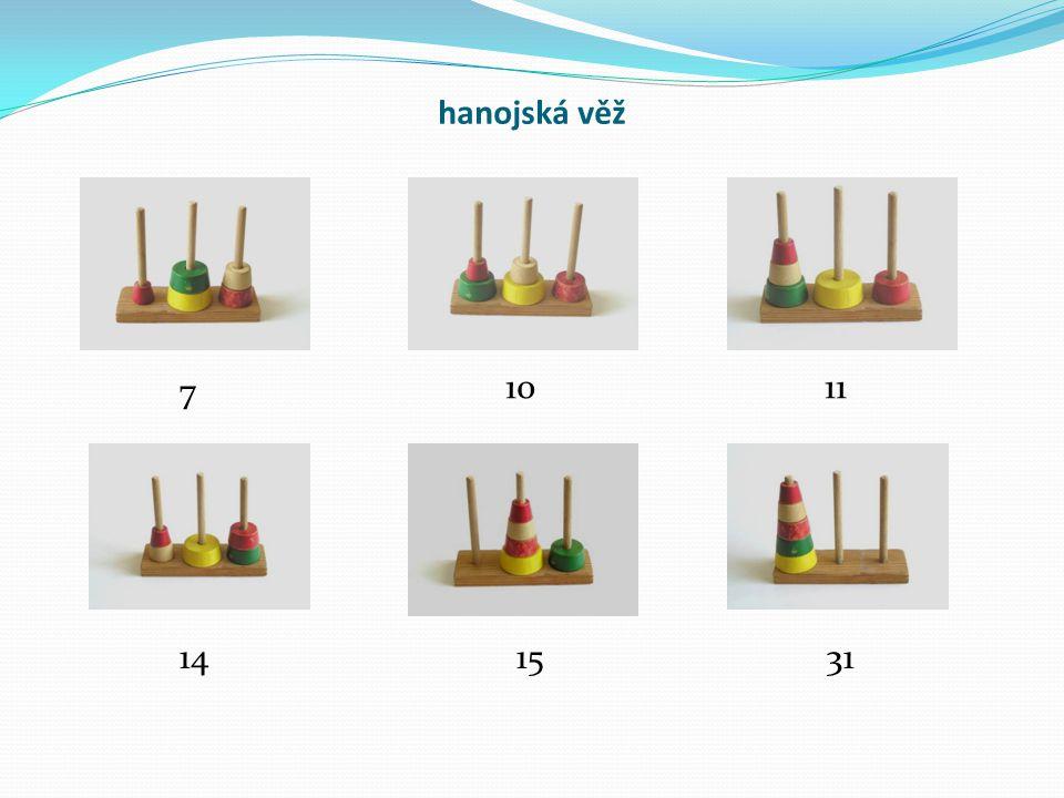 hanojská věž 7 10 11 14 15 31