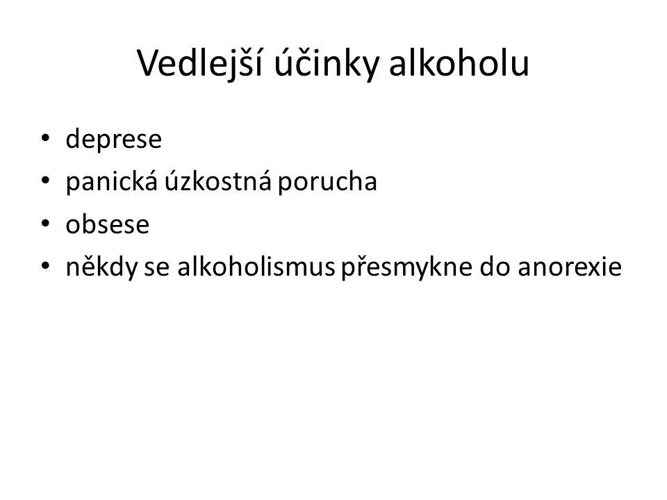 Vedlejší účinky alkoholu