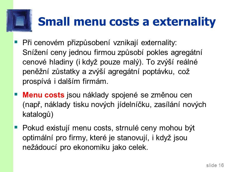 CASE STUDY: Jak velké jsou menu costs